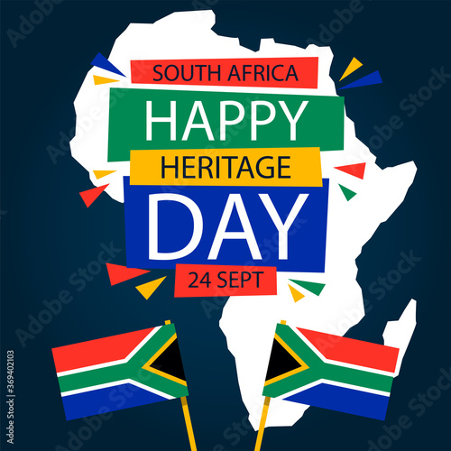 Obraz na plátně Heritage day of  South Africa 24 September-Vector illustration