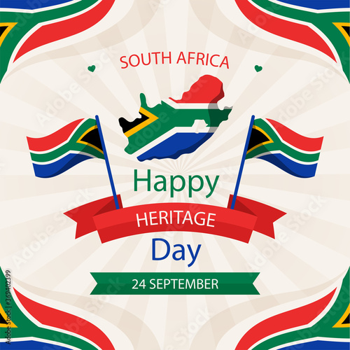 Fototapeta Heritage day of  South Africa 24 September-Vector illustration