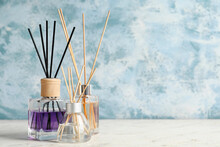 Different Reed Diffusers On Ta...