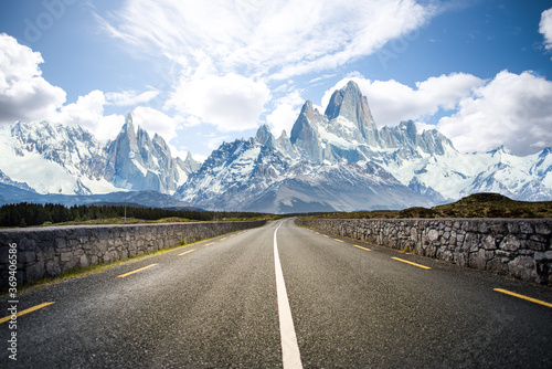 Road to high Mountains Canvas Print