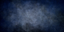 Black And Blue Grunge Background With Starry Sky Effect