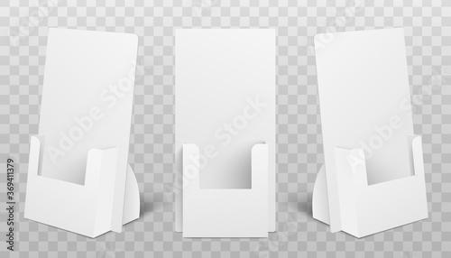 Set of holder boxes for POS POI realistic mockup vector illustration isolated Slika na platnu