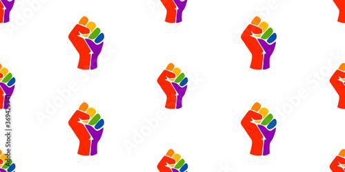 Canvas Symbol of the LGBT community, a rainbow fists