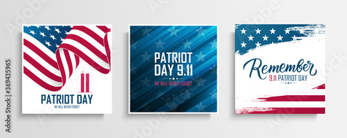 Valokuva USA Patriot Day cards set