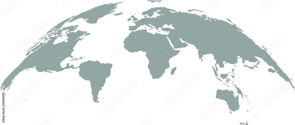 Obraz 3D Globe Map Template Gray Design fototapeta, plakat