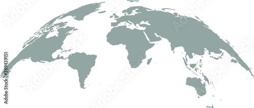 Fototapeta 3D Globe Map Template Gray Design obraz