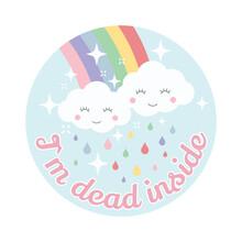 Cloud And Rainbow Cute Vector ...