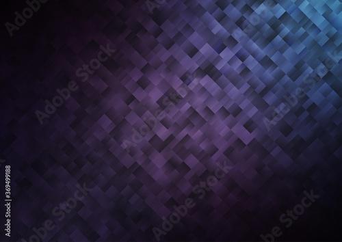 Fotografia, Obraz Dark Purple vector template with crystals, rectangles