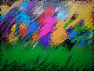 Panel Szklany Abstrakcja Abstract colorful illustration in bright colors on dark background