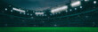 Sport stadium at night as wide backdrop. Digital 3D illustration for background advertisement.