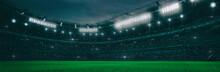 Sport Stadium At Night As Wide...