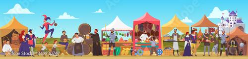 Tela Medieval fair vector illustration