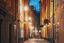 Stockholm, Sweden. Night View ...