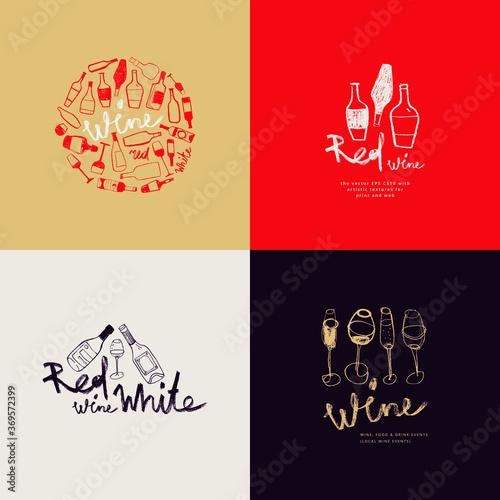 Fotografie, Obraz Winehouse symbol and winery insignia