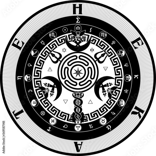 Fotografie, Obraz The Grand Seal of Hekate Goddess of Witchcraft, Wicca, Paganism, The Occult Paga