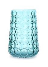 Stylish Empty Glass Vase Isolated On White