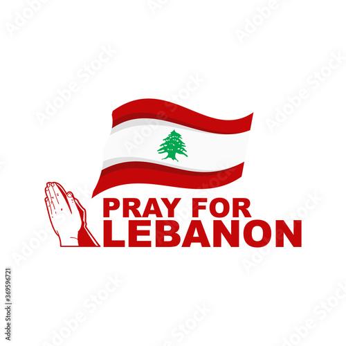 Fotografía Pray For Lebanon, Pray For Beirut. Vector Illustration