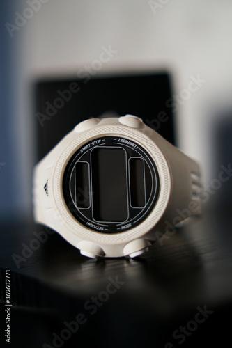 Photo White stylish adidas watch