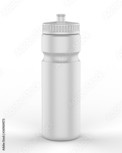 Obraz Sport blank sipper bottles for water isolated on white background for mock up and template design. 3d render illustration. - fototapety do salonu