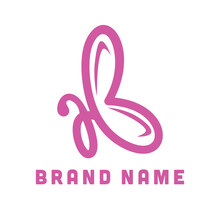 Butterfly Initial AB Logo Crea...