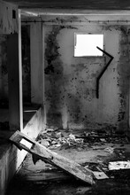 Black And White Of Looted Room...