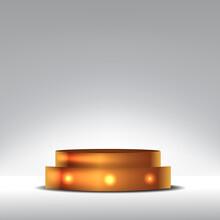 Golden Elegant Luxury Cylinder...