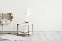 Stylish Armchair And Table Nea...