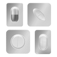 Pill Blister Pack. Realistic M...