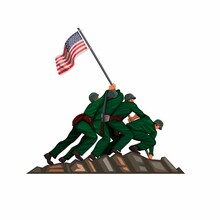 Soldier American Flag Raising ...