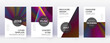 Modern brochure design template set. Rainbow abstr
