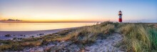Sunrise At The North Sea Coast On The Island Of Sylt, Schleswig-Holstein, Germany
