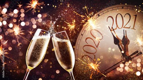 Obraz na plátne New Years Eve celebration background