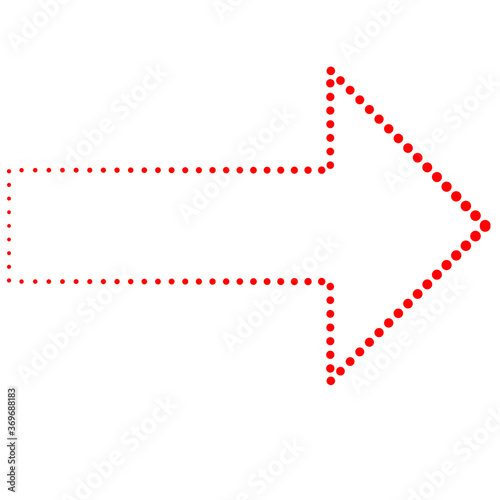sideways. dotted sign. Arrow element for your design.Striped direction. vector illustration Wall mural