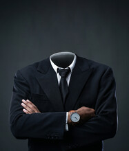 Businessman Without Head On Da...