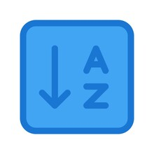 Sort / Organize The List By Alphabetical Order Icon - Vector Illustration.