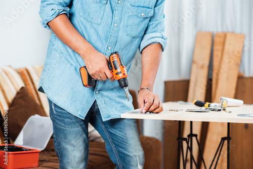 Foto Cordless screwdriver drill