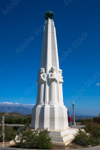 Tela Astronomers Monument, Griffith Observatory, Los Angeles, California, USA