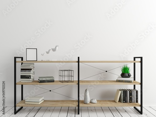 Chest of drawers shelf loft style background Canvas Print