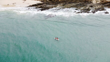 Aerial Drone View Of In Kayak ...