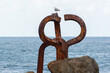 The Comb of the Wind (El Peine del Viento , 1976) is a collection of three sculptures by Eduardo Chillida and it is located at the western end of La Concha Bay, San Sebastián.