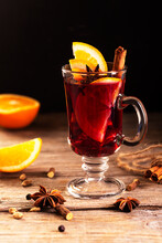 Mulled Wine With Slice Of Oran...