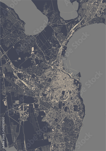 Canvas Print map of the city of Odessa, Odessa Oblast, Ukraine