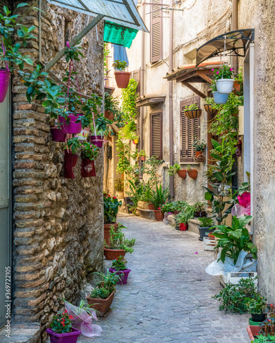 Fototapety, obrazy: Scenic sight in Montecelio, beautiful little town in the province of Rome, Lazio, Italy.
