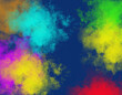 Here is an unusual background image cloud formations and bright colors.