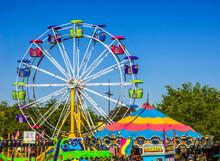 Rides At Small County Fair