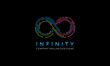 Infinity Line Logo - Infinite Icon - Colorful Endless Symbol Vector