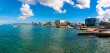 A View Of George Town Capital Of Grand Cayman, The Cayman Islands
