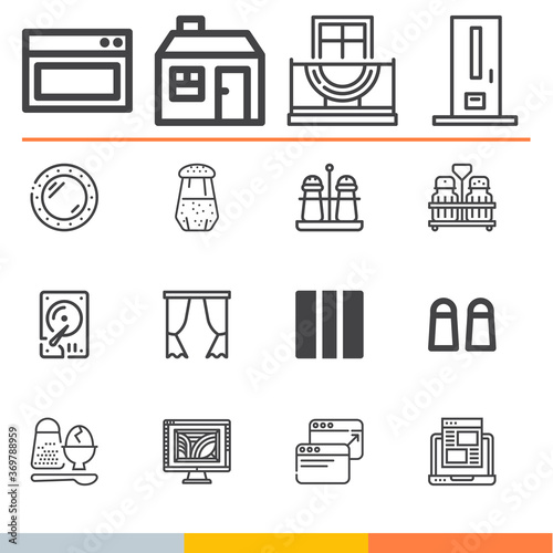 Photo Simple collection of acetate related lineal icons