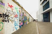 Germany. Berlin. Berlin Wall With Drawings In Berlin. February 17, 2018