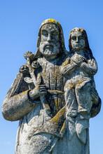 Saint Joseph With Little Jesus...